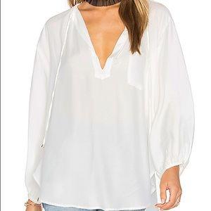 Faithfull the Brand white cotton pocket blouse 4